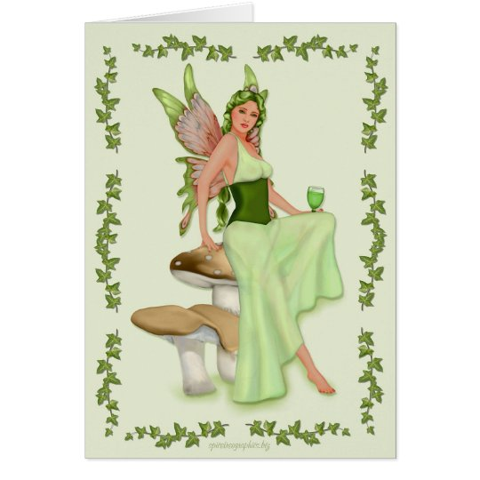 Absinthe - The Green Fairy Card