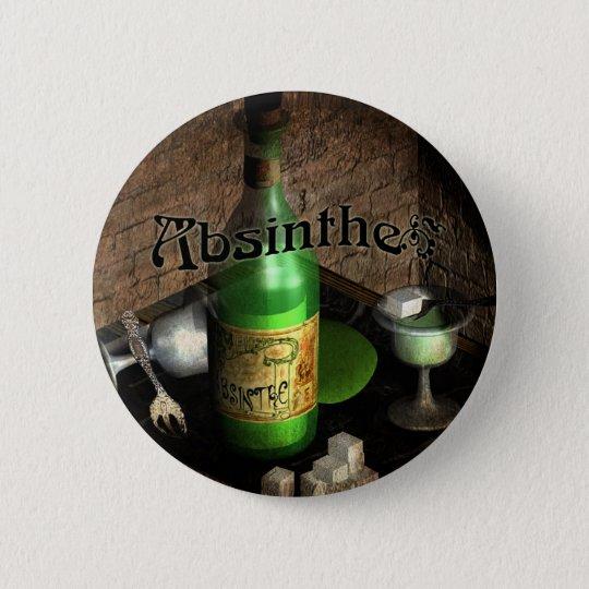 Absinthe Tray Still Life 6 Cm Round Badge
