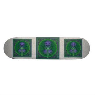 Absinthe Tulips Mandala Skate Board Deck
