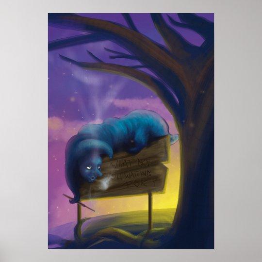 Absolem the blue Catapillar Poster