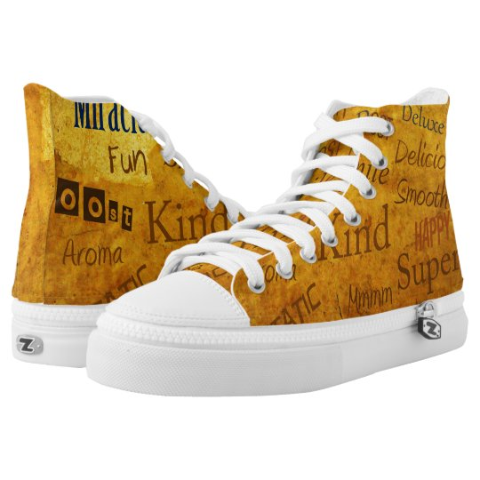 Absolutely Cool Positive Vibe Shoes! High Tops