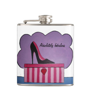 Absolutely fabulous hip flask