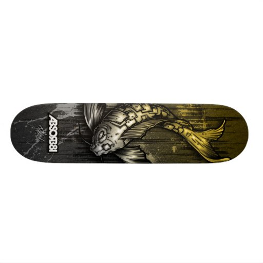 absorb81_skateboard_koi_yellow skateboard deck