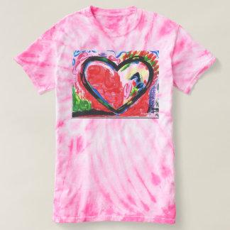 Abstact art heart tie dye t-shirt