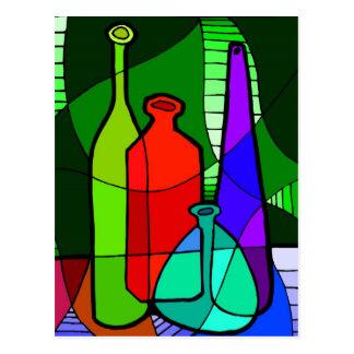 Abstact Bottle Postcard
