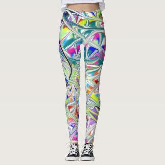 abstact swirl leggings
