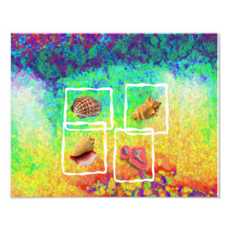 Abstarct Sea Shells Pattern Photographic Print
