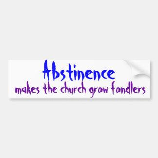 Abstinence Bumper Sticker
