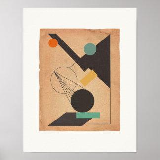 Abstract #1 Bauhaus Poster