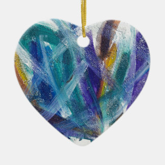 Abstract 1 ceramic heart decoration