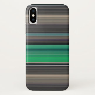 Abstract #1: Green and grey iPhone X Case