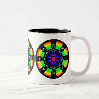Abstract 1 Two-Tone coffee mug