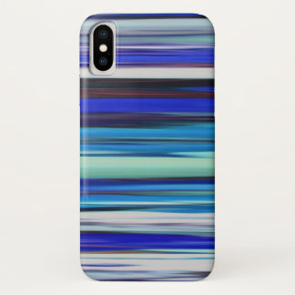Abstract #2: Blue blur iPhone X Case