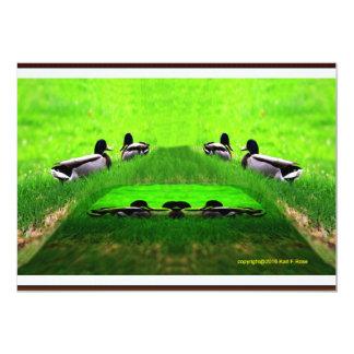 Abstract 2 ducks invitation