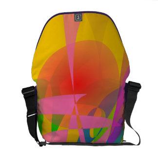 Abstract 2D Messenger Bag