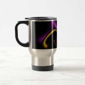 Abstract 334 Bright Graceful Shapes on Black Coffee Mug
