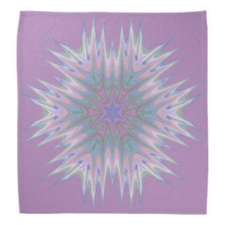 Abstract 336 a Pastel Kaleidoscope Head Kerchief