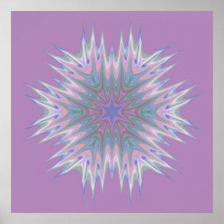 Abstract 336 a Pastel Kaleidoscope Print