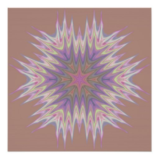Abstract 337 a Beige and Purple Kaleidoscope Poster