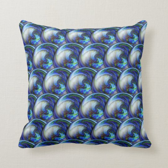 Abstract 3d circles pattern with bubbles. cushion