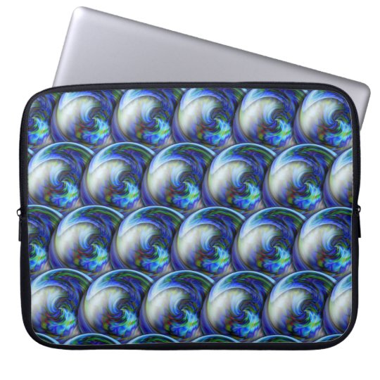 Abstract 3d circles pattern with bubbles. laptop sleeve