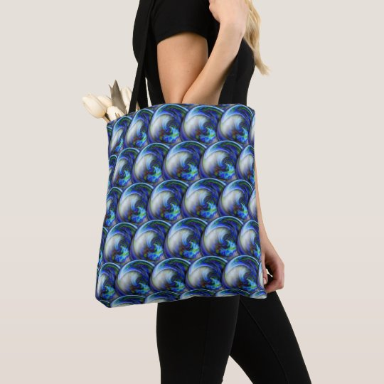 Abstract 3d circles pattern with bubbles. tote bag