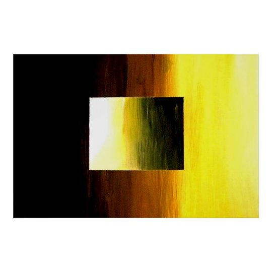 ABSTRACT 3D GOLDEN YELLOW SQUARE POSTER