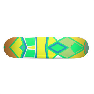Abstract #564 21.6 cm old school skateboard deck