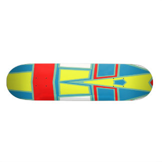 Abstract #591 18.1 cm old school skateboard deck