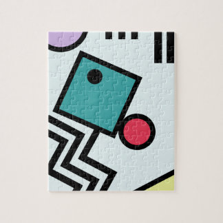 Abstract 80s memphis pop art style graphics jigsaw puzzle