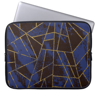 Abstract #941 Blue Laptop Sleeve