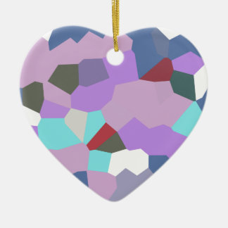 Abstract A Ceramic Heart Decoration