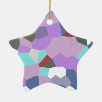 Abstract A Ceramic Star Decoration