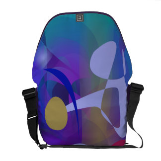 Abstract Abstract Blue Hue Courier Bags