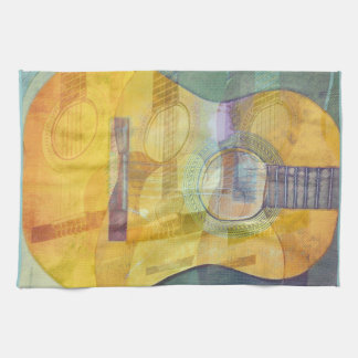 Abstract Acoustic Guitar American MoJo Kitchen Tow Tea Towel