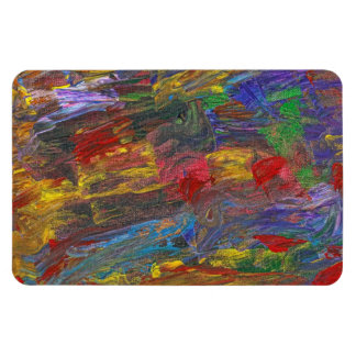 Abstract - Acrylic - Anger Joy Stability Rectangular Magnet