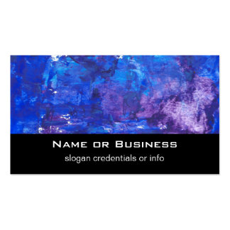 Abstract Acrylic Design - Blue Thoughts Pack Of Standard Business Cards