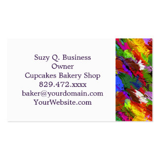 Abstract Acrylic Hand Painted Background Pack Of Standard Business Cards