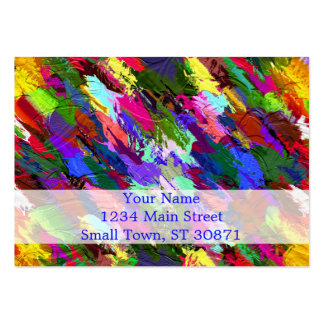 Abstract Acrylic Hand Painted Background Pack Of Chubby Business Cards