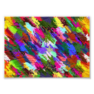 Abstract Acrylic Hand Painted Background Photographic Print