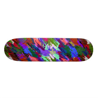 Abstract Acrylic Hand Painted Background Skate Boards