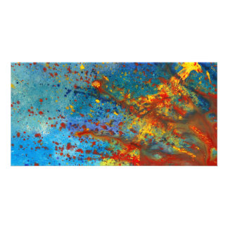 Abstract - Acrylic - Just another Monday Personalized Photo Card
