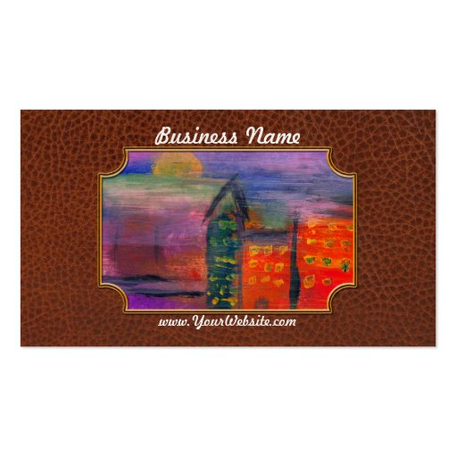 Abstract - Acrylic - Lost in the city Business Card Template