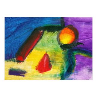 Abstract - Acrylic - Primitives Invite