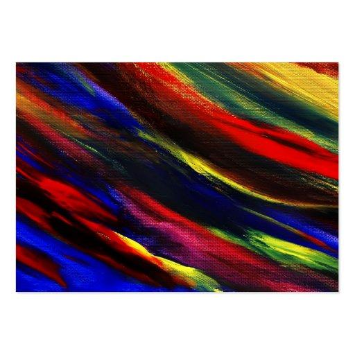 Abstract Acrylic Smears Business Card Templates