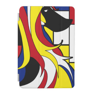 Abstract Afghan Hound iPad Mini Cover