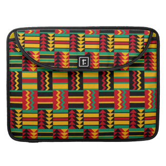 Abstract African Kente Cloth Pattern Red Yellow MacBook Pro Sleeves