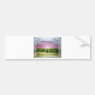 Abstract African Sunset Bumper Sticker