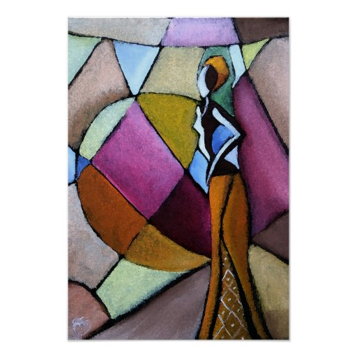 Abstract African Woman Poster