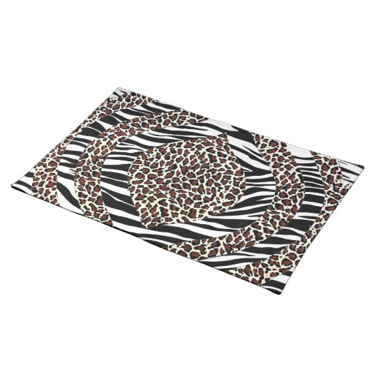 Abstract African Zeba and leopard Placemat